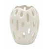 Benzara Stunning Ceramic White Vase