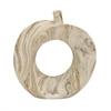 """Benzara Amazing Ceramic Dark Marble Vase 10""""W, 11""""H"""