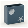 Striking Ceramic Square Vase, Blue & White