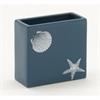 Striking Ceramic Square Vase, Blue & White