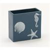 Distinct Ceramic Square Vase, Blue & White