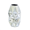 Stylish Ceramic Silver Vase, Silver
