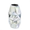 Marvelous Ceramic Silver Vase, Silver