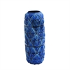 Astounding Ceramic Blue Vase, Blue
