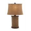 Benzara Elegant Unique Styled Wood Rope Table Lamp