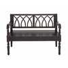 Benzara Dark Brown Polished Styled Wood Bench