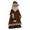 "Benzara Marvelous Wood Metal Santa 12""W, 24""H"