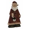 "Benzara Marvelous Wood Metal Santa 12""W, 24""H"