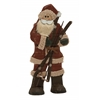 "Spectacular Wood Metal Santa 9""W, 19""H"