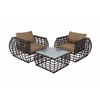 Benzara Classy Aluminum Wicker Outdoor Set Of 3