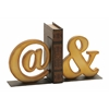Quirky Looking Metal Bookend Pair
