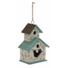 "Adorable Wood Metal Birdhouse 9""W, 20""H"