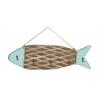 "Fish Design Wood Metal Wall Hook 24""W, 11""H"