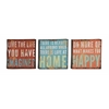 Benzara Set Of 3 Assorted Fabulous Metal Wall Décor