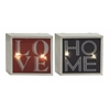 Benzara Marvelous Metal Led Wall Sign 2 Assorted