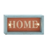 "Benzara Simply Attractive Wood Led Wall Home Sign 12""W, 6""H"