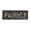 "Benzara Shinning Wood Led Wall Family Sign 24""W, 8""H"