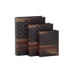 Contemporary Styled Wood Book Box Set Of 3