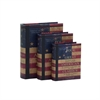Benzara Customary Styled Wood Book Box Set Of 3