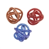 Cool Glass Knots 3 Assorted, Red, blue and brown