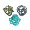 Unusual Glass Knots 3 Assorted, Blue, Grey and Green