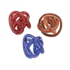 Amazing Glass Knots 3 Assorted, Red, Blue and Brown