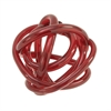Outstanding Glass Knots Red, Red