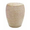 Benzara Decorative Apple Ceramic Stool