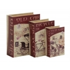 Fabulous Set Of 3 Wood Canvas Book Box