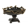 Benzara Beautifully Designed Pedestal Bowl