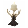 "Benzara Polystyrene Stunning And Unique Antler Candle Stand 7""W, 10""H"