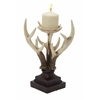 "Benzara Polystyrene Lovely And Unique Antler Candle Stand 8""W, 13""H"
