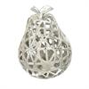 Striking Ceramic Pear, Silver