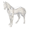 Classy Ps Silver Plated Horse, Silver