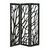 Benzara Panel Screen In Slick Brown Finish & Lightweight - Set Of 3