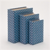 Refreshing Light Blue Set Of 3 Wooden And Glass Book Box