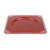 Enhancing Pp Beads Charger Plate Red (set of 24)