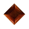 Amazing PP Plastic Square Copper Charger, Copper