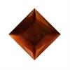 Amazing PP Plastic Square Copper Charger, Copper