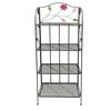 "Benzara Colorful And Elegant Bakers Rack With Flower Motifs 68""H, 25""W"