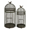 Benzara Metal Bird Cage Set Of 2 For Those Who Have Passion For Birds Keeping