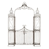 Benzara Metal Garden Gate With Natural Brown Tones