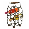 "Benzara Sheet Metal Wine Holder 16""H, 8""W"