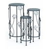 "Benzara Metal Plant Stand Set/3 28"", 24"", 20""H Patio Accents"