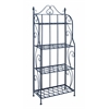 Bakers Rack With Classic Design In Black Matte Finish