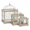 Metal Bird Cage With Celestial Designs - Set Of 3