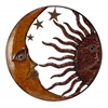 Benzara Metal Sun Moon Wall Decor With Antique Brown Look