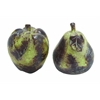 Yellow And Red Ceramic Apple And Pear For Dining Table (Set Of 2)