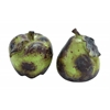 Benzara Ceramic Pear & Apple For Dining Table In Red And Blue (Set Of 2)