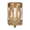 Benzara Fantastic Styled Metal Glass Candle Lantern